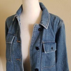 Madewell Jackets & Coats - Madewell Northward Cropped Army Denim jacket